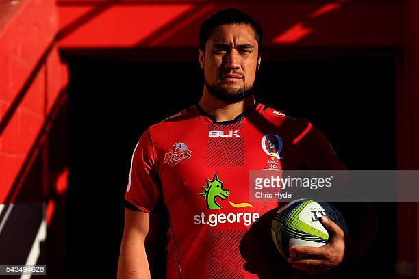 Queensland Reds player Leroy Houston poses for a portrait at Ballymore Stadium on June 29 2016 in Brisbane Australia
