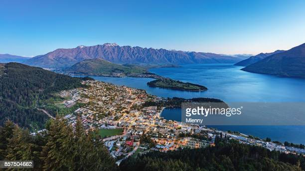 Queenstown at Night Panorama New Zealand