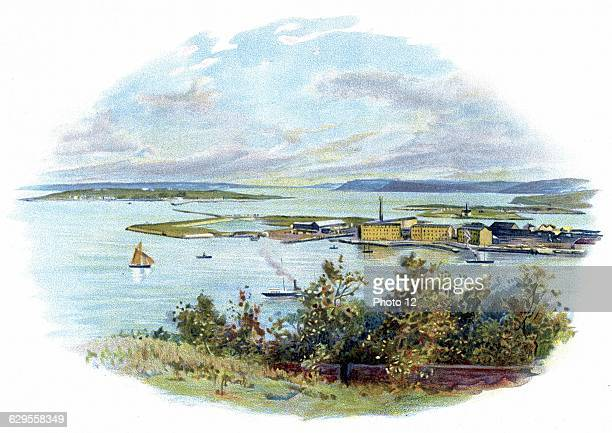 Queenstown / Cobh the harbour for Cork Between 1845 and 1860 above 25 million people emigrated from Ireland through Cobh  Also last port of call the...