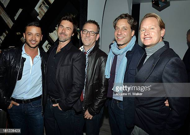 Queer Eye cast members Jai Rodriguez Kyan Douglas Ted Allen Thom Filicia and Carson Kressley attend the Tribeca Film and The Cinema Society screening...