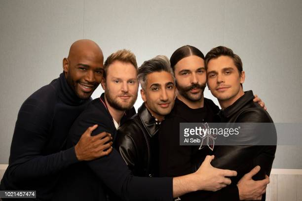 Queer Eye for the Straight Guy cast members Karamo Brown Bobby Berk Tan France Jonathan Van Ness and Antoni Porowski are photographed for Los Angeles...