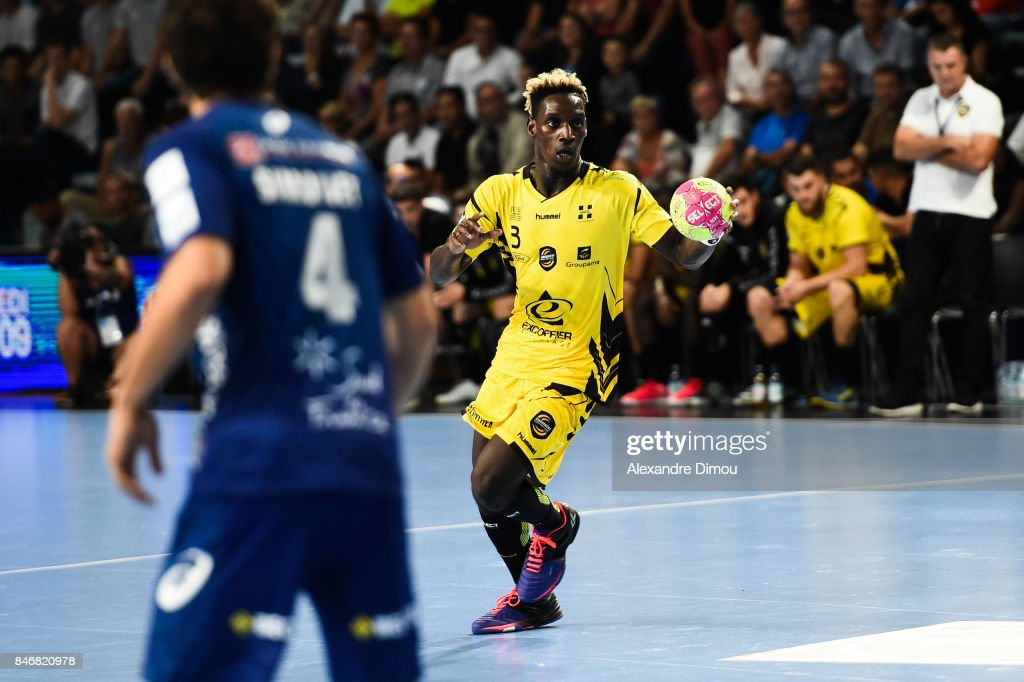 Queido Traore of Chambery during Lidl Star Ligue match between Montpellier and Chambery on September 13, 2017 in Montpellier, France.