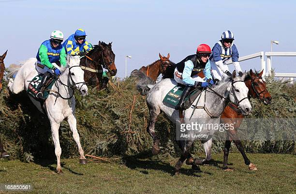 Quel Esprit ridden by Paul Townend clears The Chair ahead of eventual winner Ryan Mania riding Auroras Encore and Swing Bill ridden by Conor...