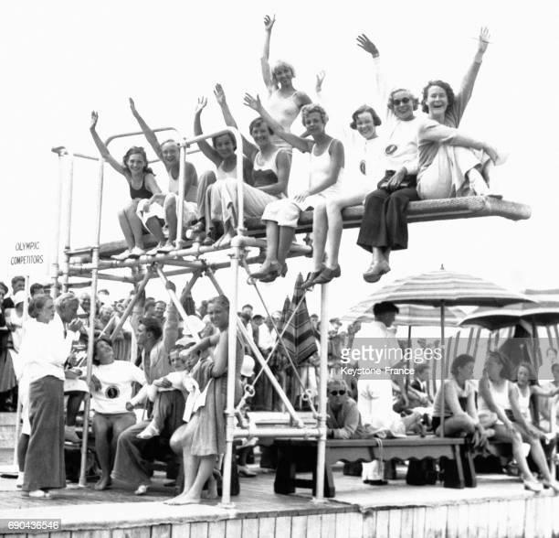 Quelques stars de la natation et du plongeon réunis pour les présélections des Jeux Olympiques à Jones Beach New York EtatsUnis