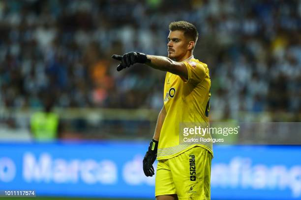 Quentin Beunardeau of Desportivo das Aves during the match between FC Porto and Desportivo das Aves for the Portuguese Super Cup at Estadio Municipal...