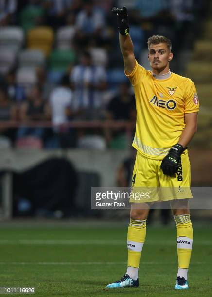 Quentin Beunardeau of Desportivo das Aves in action during the Portuguese Super Cup match between FC Porto and Desportivo das Aves at Estadio...