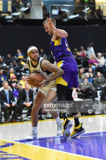 Quentin Chievous of the Capital City GoGo drives to the basket against the South Bay Lakers on December 13 2018 at UCLA Heath Training Center in El...