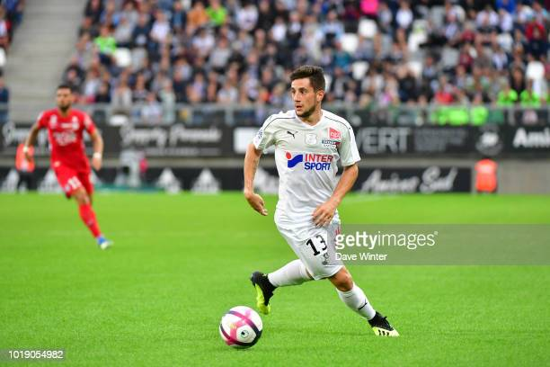 Quentin Cornette of Amiens during the French Ligue 1 match between Amiens and Montpellier at Stade de la Licorne on August 18 2018 in Amiens France