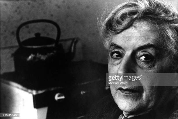 Quentin Crisp in his room, Chelsea, London, Britain.