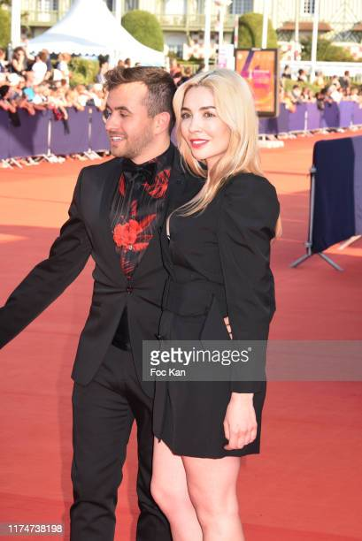 Quentin Delcourt and Alix Benezech attends the Award Ceremony during the 45th Deauville American Film Festival on September 14 2019 in Deauville...