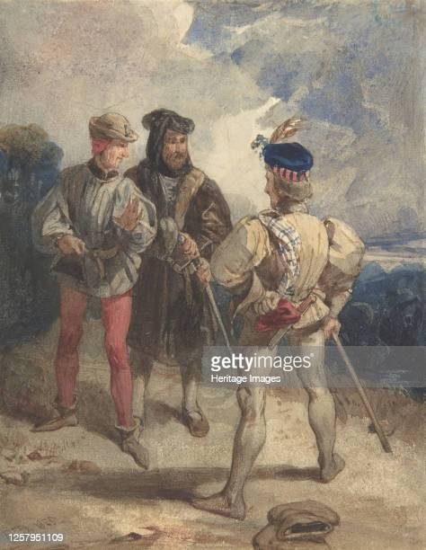 Quentin Durward and the Disguised Louis XI Study of male figure 1825 or 1826 Artist Richard Parkes Bonington