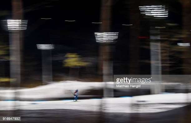 Quentin Fillon Maillet of France competes during the Men's 10km Sprint Biathlon on day two of the PyeongChang 2018 Winter Olympic Games at Alpensia...