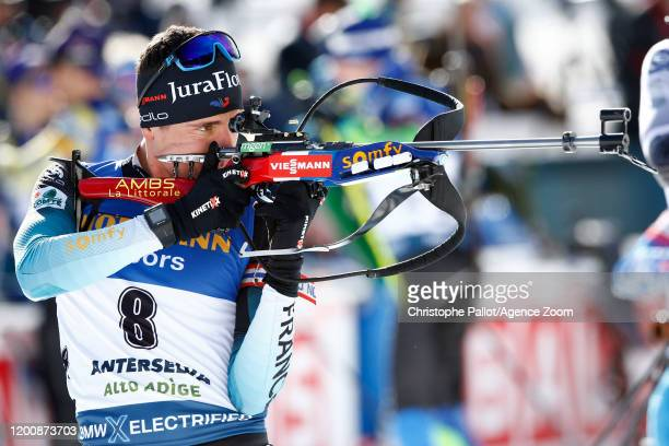 Quentin Fillon Maillet of France in action during the IBU Biathlon World Championships Men's 10 km Sprint Competition on February 15 2020 in Antholz...
