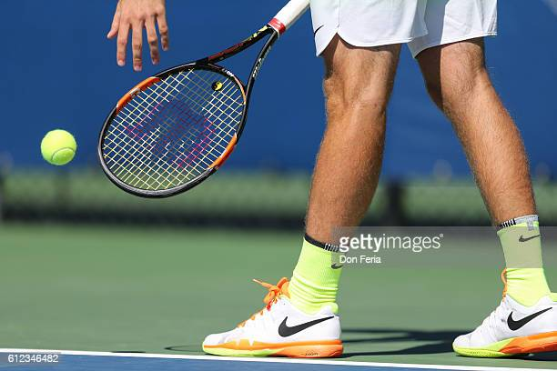 Quentin Halys and doubles partner Dennis Novikov compete in the championship match of the Tiburon Challenger Tournament on October 2 2016 in Tiburon...
