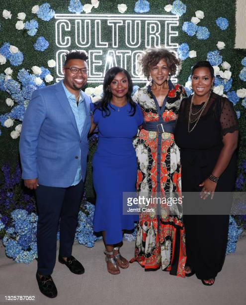 Quentin James, Joi Brown Debra Langford and Stefanie Brown James attend the Culture Creators Innovators & Leaders Awards at The Beverly Hilton on...