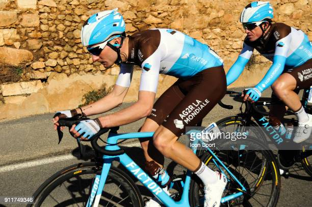 Quentin Jauregui and Samuel Dumoulin of AG2R during the Grand Prix La Marseillaise on January 28 2018 in Marseille France