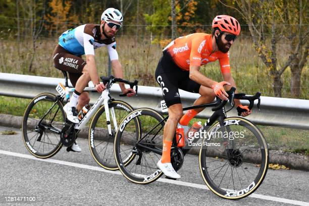 Quentin Jauregui of France and Team AG2R La Mondiale / Simon Geschke of Germany and CCC Team / during the 75th Tour of Spain 2020, Stage 2 a 151,6km...