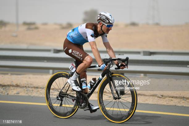 Quentin Jauregui of France Team AG2R La Mondiale / during the 5th UAE Tour 2019 Stage 5 a 181km stage from Sharjah Flag Island to Khor Fakkan /...