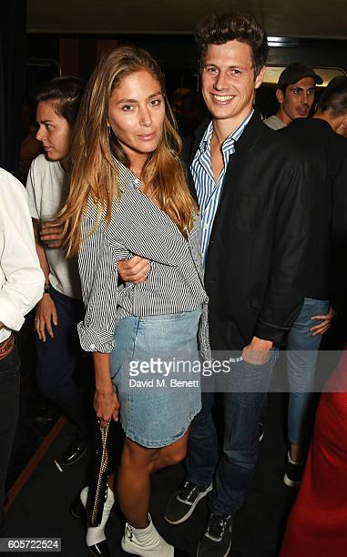 Quentin Jones and George Northcott attend as Blakes hotel celebrates the launch of Blakes Below a luxury bar and lounge designed by Anouska Hempel on...