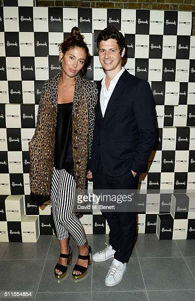 Quentin Jones and George Northcott attend the Serpentine Future Contemporaries x Harrods Party 2016 at The Serpentine Sackler Gallery on February 20...