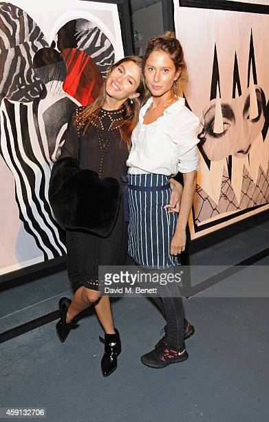 Quentin Jones and Jemima Jones attend 'The Fractured and the Feline' an exhibition by Quentin Jones and Robert Storey at The Vinyl Factory Space at...