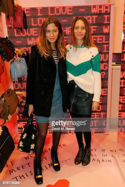 Quentin Jones and Jemima Jones attend the Maje PopUp store launch with Women for Women International on November 20 2017 in London England