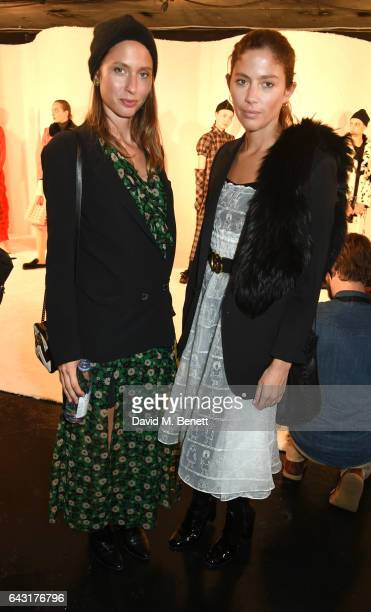 Quentin Jones and Jemima Jones attend the Shrimps of London presentation during the London Fashion Week February 2017 collections on February 20 2017...