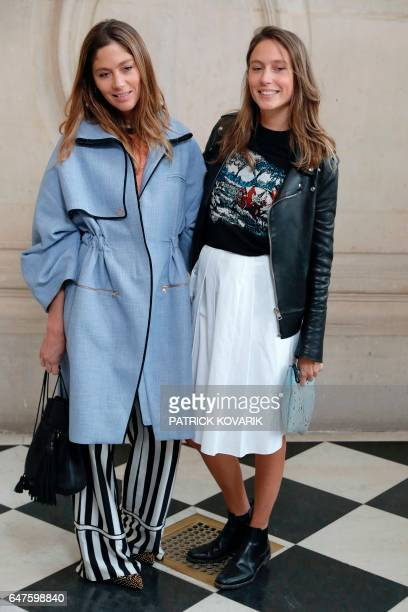 Quentin Jones and Jemima Jones pose during the photocall before the Christian Dior women's FallWinter readytowear collection fashion show in Paris on...