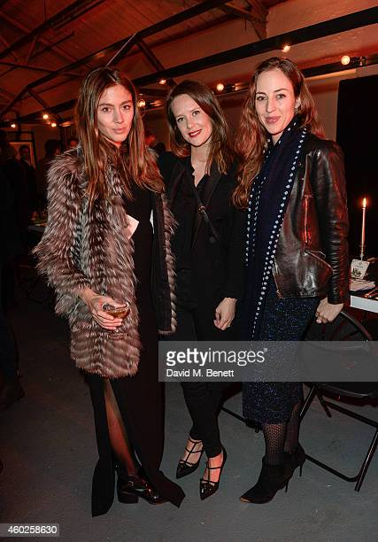 Quentin JonesArabella Musgrave Lily Atherton Hanbury attend the Vinyl Factory dinner to celebrate the exhibition at The Vinyl Factory Gallery on...