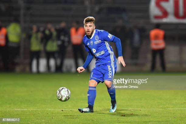 Quentin Martin of Bourg en Bresse during the Ligue 2 match between Nimes and Bourg en Bresse at Stade des Costieres on November 24 2017 in Nimes...