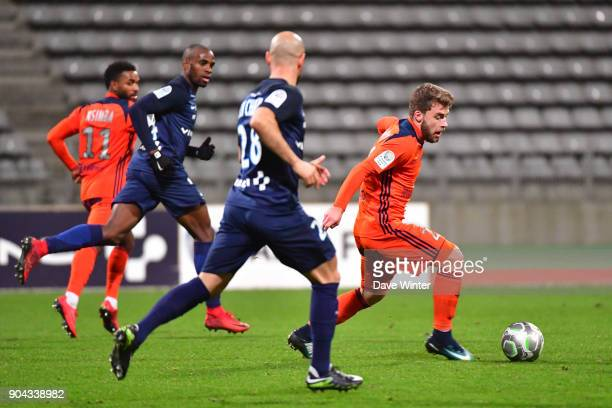 Quentin Martin of FBBP 01 during the Ligue 2 match between Paris FC and Bourg en Bresse at Stade Charlety on January 12 2018 in Paris France