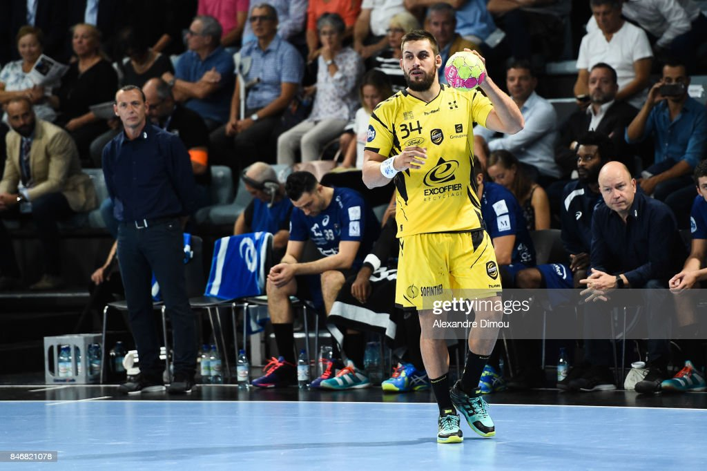 Quentin Minel of Chambery during Lidl Star Ligue match between Montpellier and Chambery on September 13, 2017 in Montpellier, France.