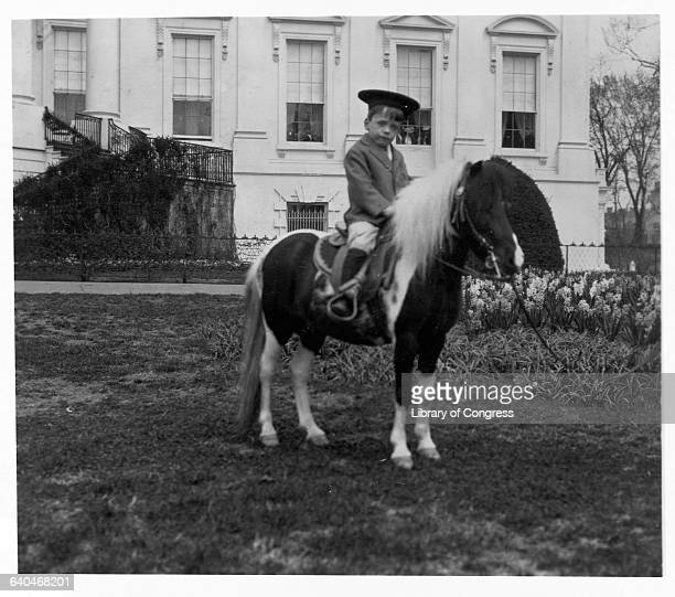 Quentin Roosevelt Riding Pony on White House Lawn
