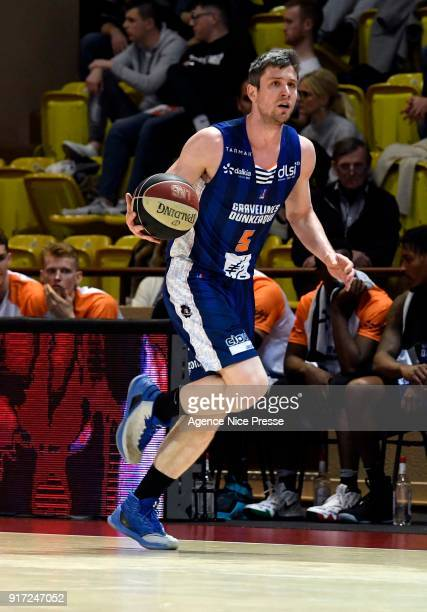 Quentin Serron of Gravelines during the Pro A match between Monaco and Gravelines Dunkerque on February 11 2018 in Monaco Monaco
