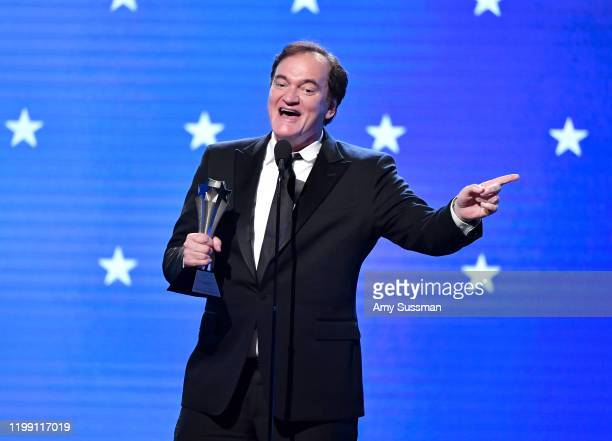 Quentin Tarantino accepts Best Supporting Actor for 'Once Upon a Time in Hollywood' on behalf of Brad Pitt onstage during the 25th Annual Critics'...