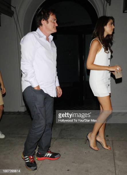 Quentin Tarantino and Daniela Pick are seen on July 28 2018 in Los Angeles CA
