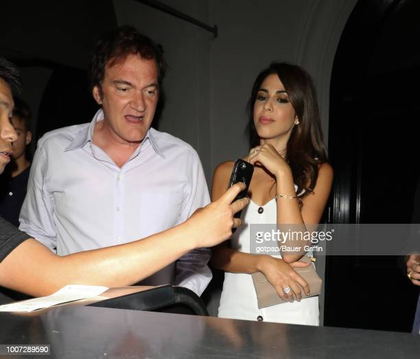 Quentin Tarantino and Daniela Pick are seen on July 28 2018 in Los Angeles California