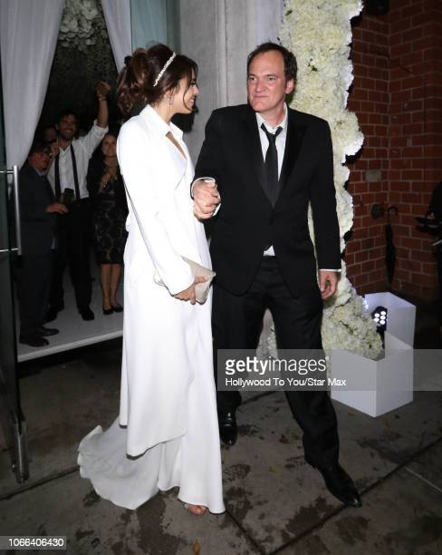 Quentin Tarantino and Daniela Pick are seen on November 29 2018 in Los Angeles CA