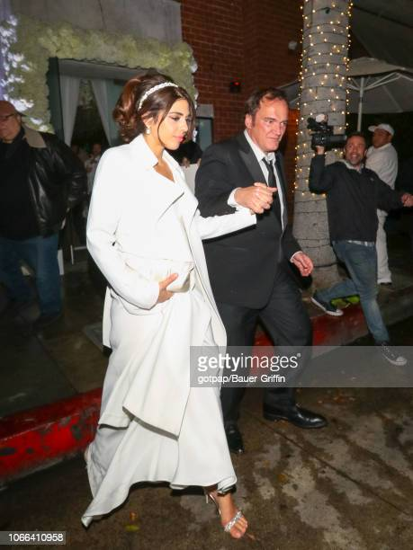 Quentin Tarantino and Daniela Pick are seen on November 29 2018 in Los Angeles California