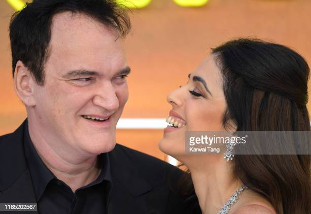 Quentin Tarantino and Daniela Pick attend the Once Upon a Time in Hollywood UK Premiere at Odeon Luxe Leicester Square on July 30 2019 in London...