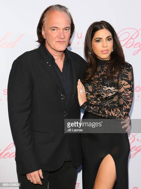 Quentin Tarantino and Daniela Pick attend the premiere of 'The Beguiled' on June 12 2017 in Los Angeles California