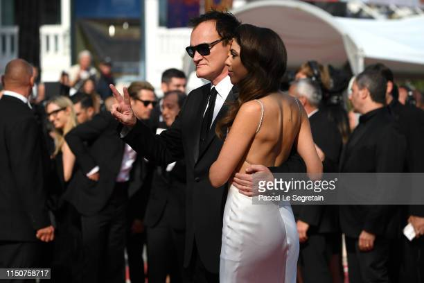 Quentin Tarantino and Daniela Tarantino attend the screening of Once Upon A Time In Hollywood during the 72nd annual Cannes Film Festival on May 21...