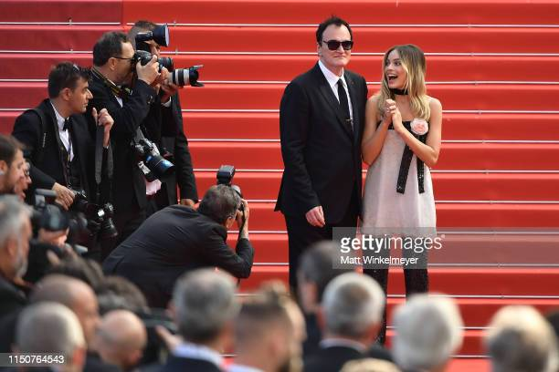 """Quentin Tarantino and Daniela Tarantino attend the screening of """"Once Upon A Time In Hollywood"""" during the 72nd annual Cannes Film Festival on May..."""