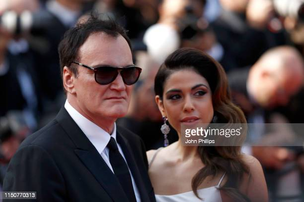 Quentin Tarantino and Daniela Pick attend the screening of Once Upon A Time In Hollywood during the 72nd annual Cannes Film Festival on May 21 2019...