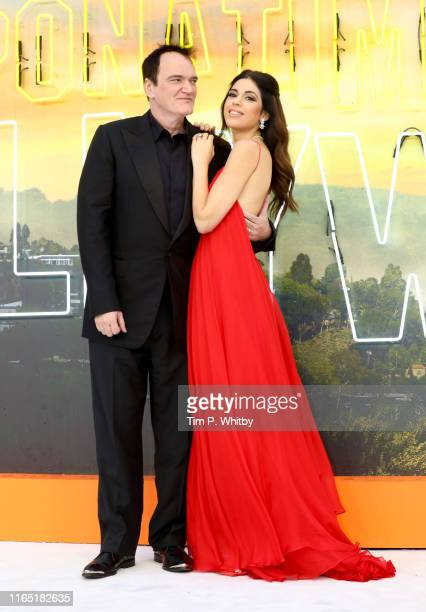 Quentin Tarantino and Daniela Tarantino attend the UK Premiere of Once Upon A TimeIn Hollywood at Odeon Luxe Leicester Square on July 30 2019 in...
