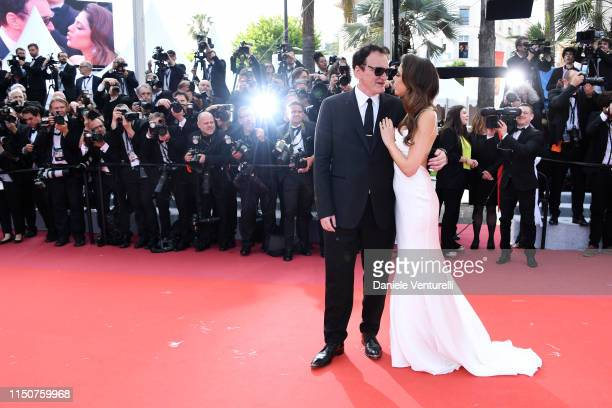Quentin Tarantino and Daniela Tarantino attends the screening of Once Upon A Time In Hollywood during the 72nd annual Cannes Film Festival on May 21...