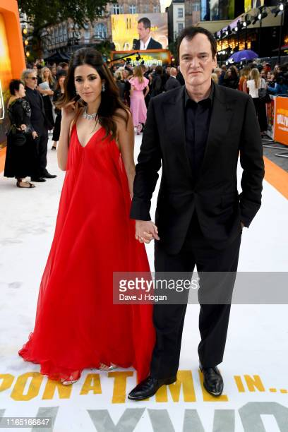 Quentin Tarantino and Daniella Pick attend the Once Upon a Time in Hollywood UK Premiere at Odeon Luxe Leicester Square on July 30 2019 in London...