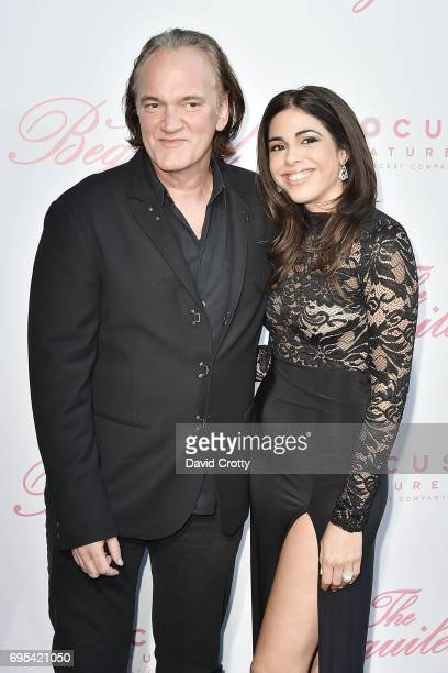 Quentin Tarantino and Daniella Pick attend the US Premiere Of The Beguiled Arrivals at Directors Guild Of America on June 12 2017 in Los Angeles...