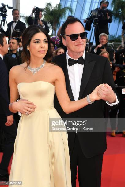 Quentin Tarantino and Daniella Tarantino attend the closing ceremony screening of The Specials during the 72nd annual Cannes Film Festival on May 25...