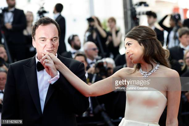 "Quentin Tarantino and Daniella Tarantino attend the closing ceremony screening of ""The Specials"" during the 72nd annual Cannes Film Festival on May..."